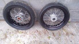 KTM 17 inch Geniune OE Supermoto SM Wheels