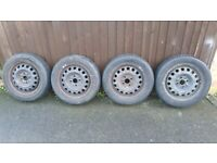 4x100 wheels with 155 65 14 tyres - can deliver