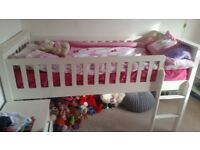 White/Ivory Marks and Spencers Cabin bed without mattress. Used but still in good condition.