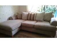 Next cream caramel corner sofa