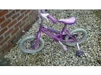 "Kids Disney Princess Bike with Stabilisers and Helmet 14"" Wheels Age 3-5 COYLTON near Ayr"