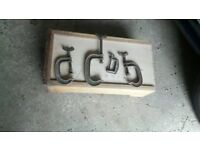 selection of carpenters gee clamps