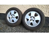 "YOKOHAMA 195/60 R14 H tyres & Ford Fiesta 14"" alloys (x2)"