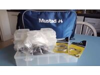 NEW Mustad blue lure fishing bag with accessories