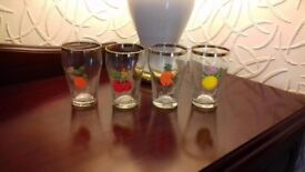 Vintage Retro 1950s Britvic fruit juice glasses