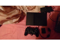 Playstation 2 with controller and memory card