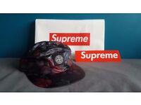 Supreme x Stone Island Lamy 6-Panel Cap - Black + BOGO Sticker & Carrier Bag