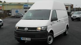 NOV 2016 VW TRANSPORTER T32 LWB HIGH ROOF 2.0 TDI BLUEMOTION 150 BHP. ONLY 2100 MILES. YES 2100..