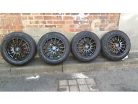 "Set of 14"" Racing Wheels and 185/70/14 Maxxis Tyres"