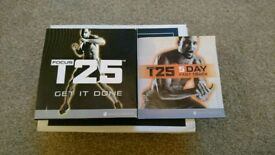 BEACH BODY T25 FITNESS DVDS, LIKE NEW