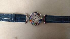 Ladies Murano Millefiori Watch - Never used as new.