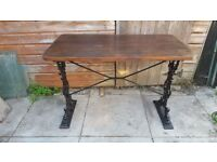 WROUGHT IRON VINTAGE PUB STYLE TABLE