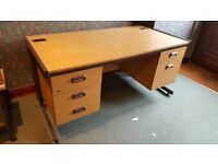 OFFICE DESK - 5 DRAWERS - SOLIDLY BUILT - EXCELLENT CONDITION