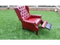 Old chesterfield recliner chair