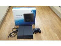 PLAYSTATION 4 1TB + 3 GAMES + CONTROLLER. BOXED, ALMOST NEW CONDITION