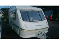 1994 elddis mistral 2 berth light weight caravan with awnings awnings