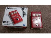 Mic Mechanic TC HELICON reverb, delay and correction voicetone pedal.