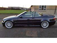 BMW M3 SMG CONVERTIBLE CARBON BLACK 100,000 MILES SAT NAV PRIVATE REG