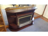 Electric Wood-surrounded Fireplace in Good Condition