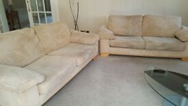 2 sofas each 2.1m long