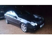 Mercedes c class kompressor coupe 1.8 spares or repairs