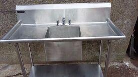 stainless steel industrial catering sink