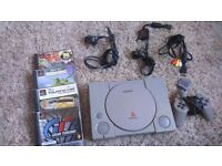 PlayStation 1, leads and games £15