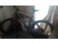 "Cube ams 150 carbon 18"" all mountain bike"