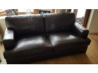 Brown leather sofa for sale x 2. Or sold seperately. Slight marks but overall great condition.