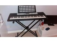 Yamaha Keyboard and Stand