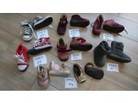 Kids girls shoes, boots sizes 4, 5, 6, 1-1,5year