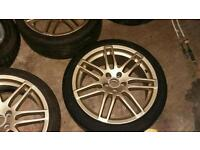 """RS4 18"""" style golf alloy wheels"""