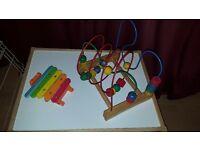 Wooden bead roller coaster & wooden xylophone