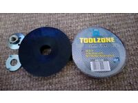 M14 Rubber Backing Pad, bolts + 10 36 Grit 115mm Discs