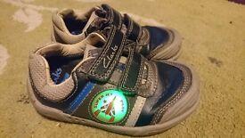 Boys clarkes shoes size 7G.