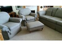Suite - 3seater sofa, 2 armchairs & footstool