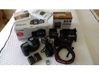 Canon 80D 24.2 MP DSLR Body only very low shutter count UK spec and Meike twin battery grip