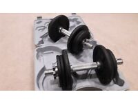 DOMYO 20KG DUMBBELL WEIGHTS SET