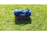 Vango Tent, 2-3 man, excellent condition, porch area, fitted groundsheet in main bedroom