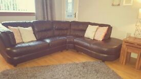 Corner and 3 seater Leather Sofa