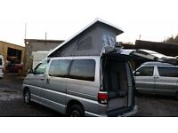 2000 TOYOTA HIACE REGIUS FULL BRAND NEW HIGH QUALITY SIDE CONVERSION 4 BERTH POP low miles