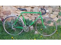 Vtg Retro French Motobecane - Motoconfort Men's Green Racing Road Touring Bike Bicycle 2040 Tubing