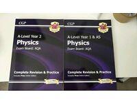 4 CGP Physics A level revision Books
