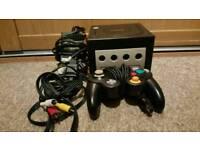 All black Nintendo Gamecube