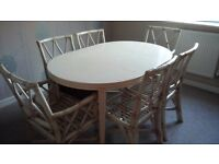 Dining table/6chairs