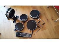 Alesis DM10 Dual Zone Drum Pads, Kick Head and Hi Hat Trigger Pedal For Sale