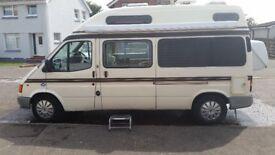 Campervan Ford Duetto, 2 berth. Toilet, shower, plenty of storage