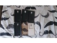 Bundle of cases, Note 4, HTC one M8, Iphone 6 plus