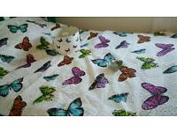 Butterfly Bed throw, matching lamp shade and t light holder