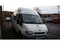 2003 Ford Transit wheelchair accessible minibus,very low mileage 51,025 EX-NHS GLENEAGLES CONVERSION